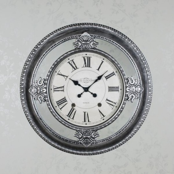 Clockworks Antique Mirrored Clock 66cm