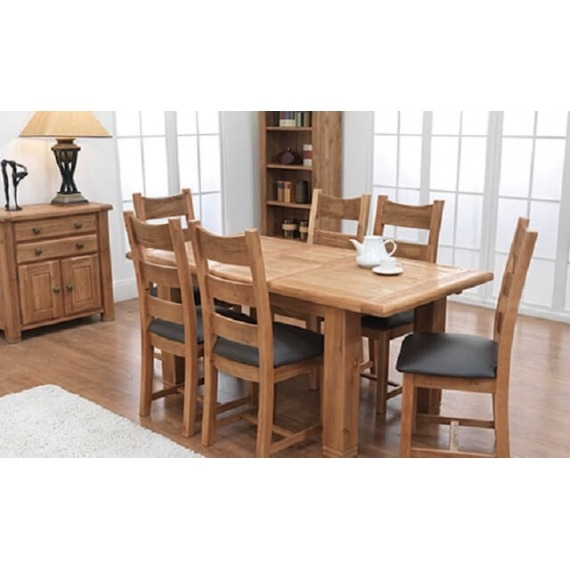 Kingston Small Oak Extending Dining Set