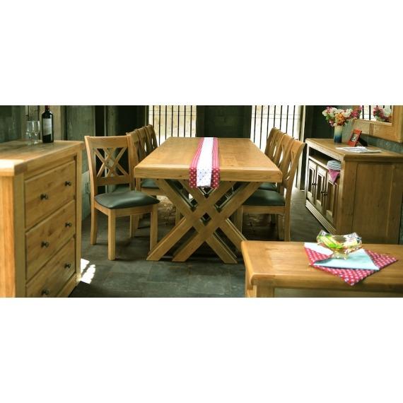 Cologne 2m Cross Leg Dining Table