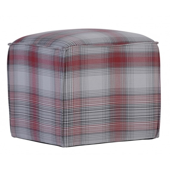 Cube Fabric Footstool