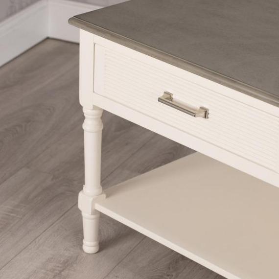 Lebus Coffee Table Pearl White/Stone Grey