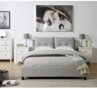 Notting Hill Grey Fabric Bed