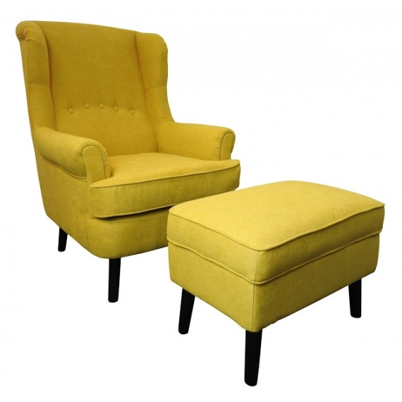 Josh Wingback Chair and Footstool