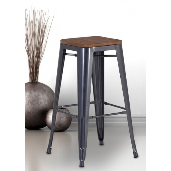 finest selection 71422 7a7ad Industrial Counter Stool (Set of 4)