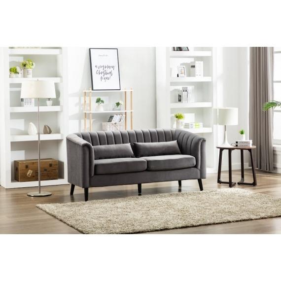Dante Velvet 3 Seater Loveseat Sofa