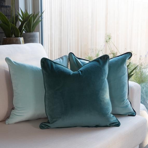 Velvet-Teal Cushion