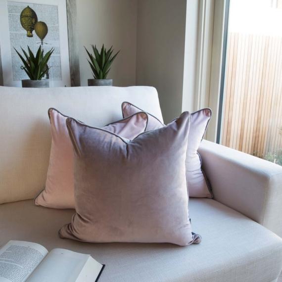 Two Tone Cushion Velvet VP-Grey
