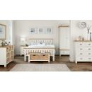 Longview Cream Oak King Size Bedframe & 2 Bedsides Set