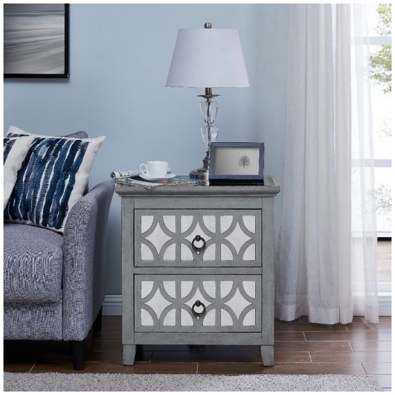 Lyra 2 Drawer End Table