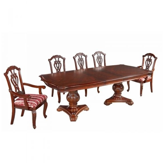 Mardin Mahogany 7 Piece Dining Set with Extendable Table