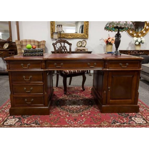 Chippindale Mahogany Desk Large