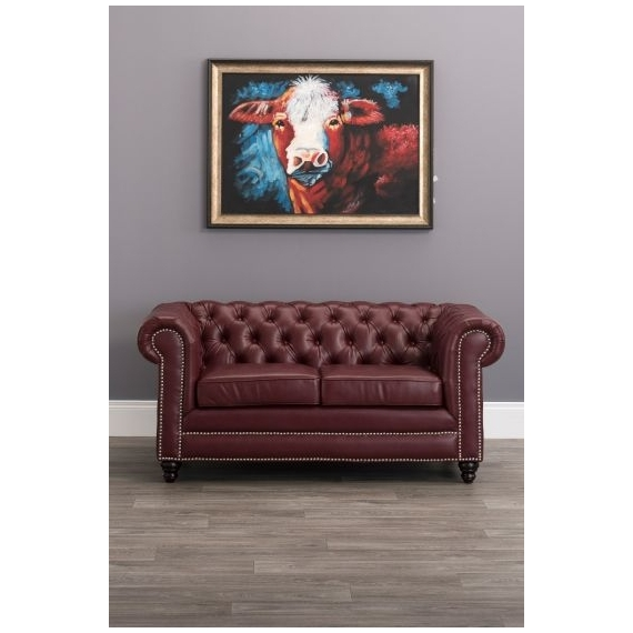 Lowry Leather Chesterfield 2 Seater Sofa