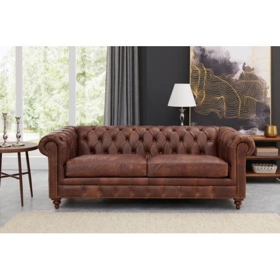Darby 3+2 Seater Suite Brown Leather