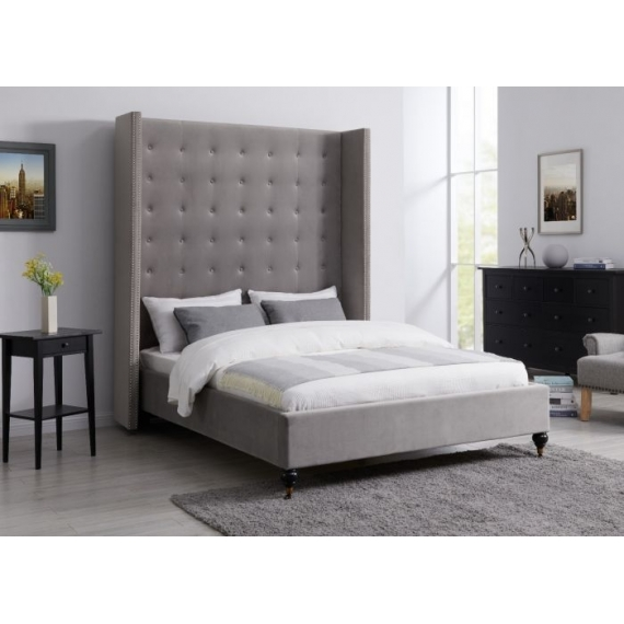 5ft Double LA Bedframe Grey