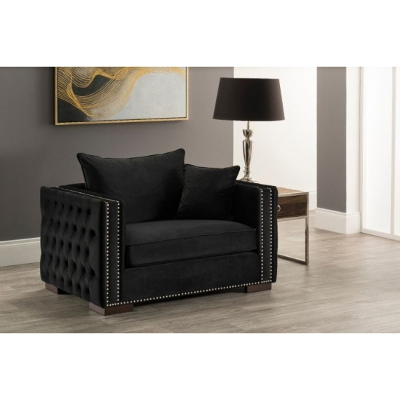Moscow Snuggle Chair Black