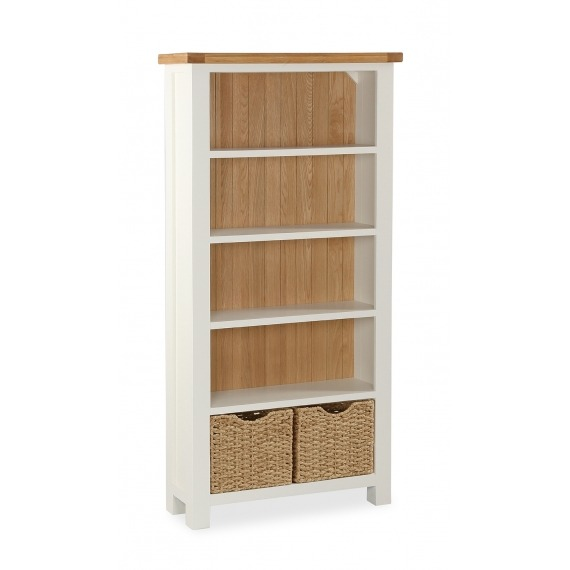 Cream Oak Large Bookcase