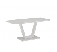 Floris White Gloss Dining Table 160cm