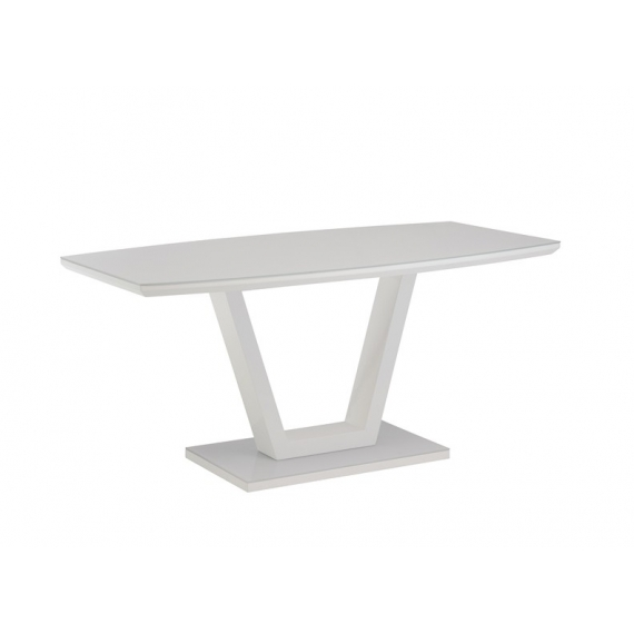 Floris White Gloss Dining Set 160cm