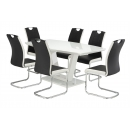 Floris White Gloss Dining Set 160cm