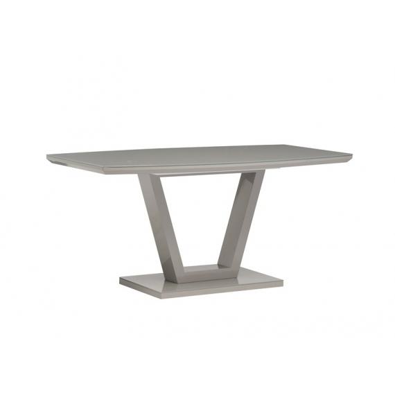 Floris Grey Gloss Dining Set 160cm