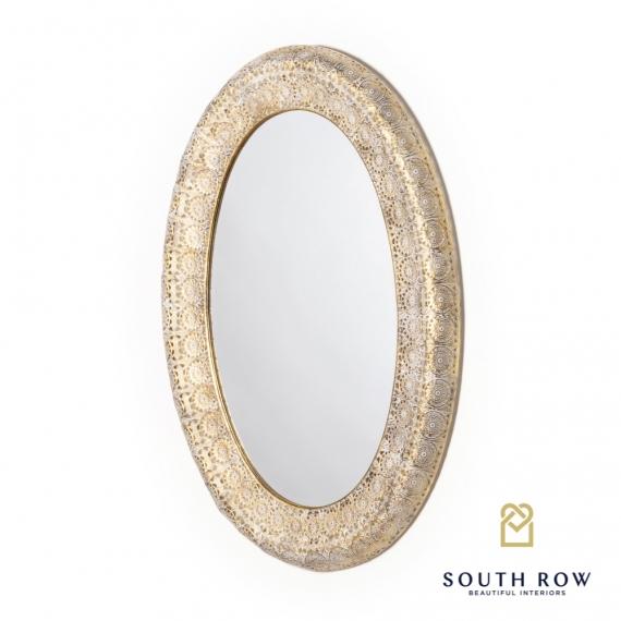 Petunia Oval Mirror gold