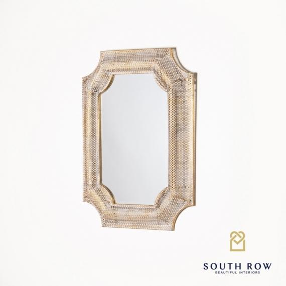 Petunia Inverse Corner Mirror gold