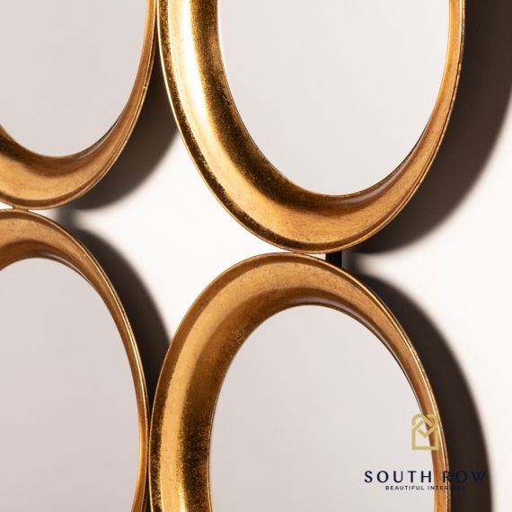 Annabell wall dEcor 9 Mirror ant gold
