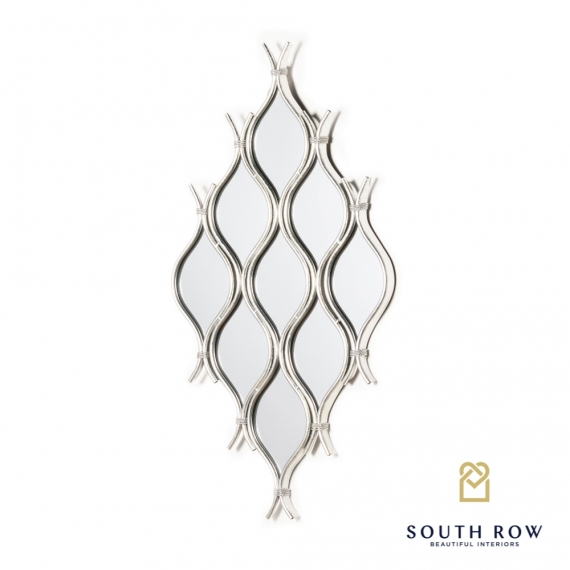 Wave 9 mirror cluster silver leaf
