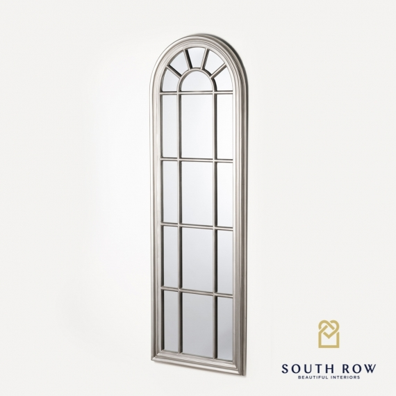 Palladian window mirror large antique silver