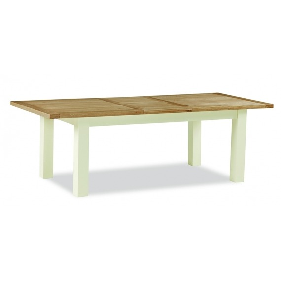 Cream Oak Extending Dining Table Compact