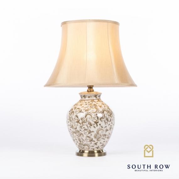 Maya Ceramic Lamp Brushed Bronze