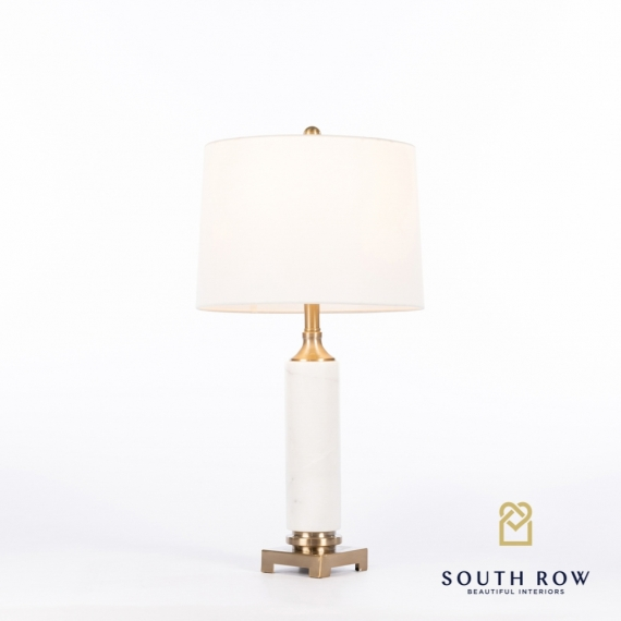 Rocca Marble/Brass Table Lamp