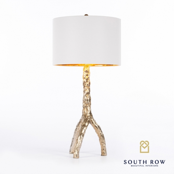 Tree Table Lamp Gold Reflective Gold Inner Shade