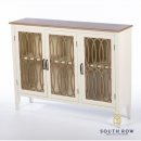 Brittany Vintage Sideboard Glass 3 door