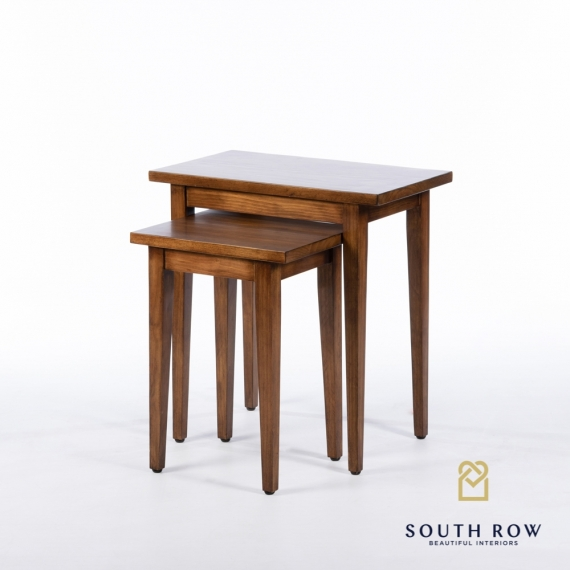 Chloe s/2 nesting tables walnut