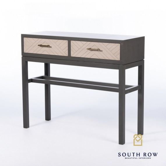Rebecca 2 Drawer Console Table Stone Gray