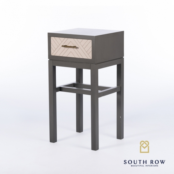 Rebecca 1 Drawer Accent Table Stone Gray