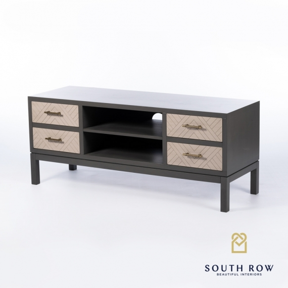 Rebecca TV Unit Stone Grey
