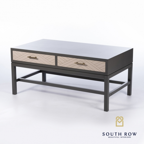 Rebecca Coffee Table With Drawers Stone Grey