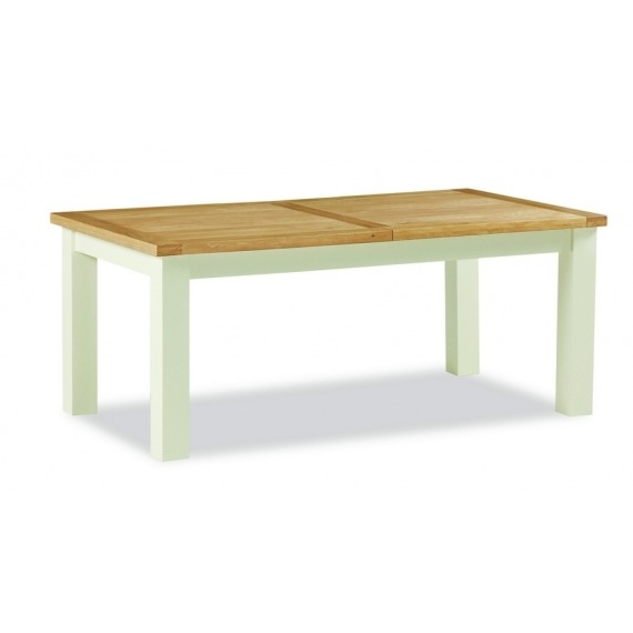 Cream Oak Extending Dining Table Large