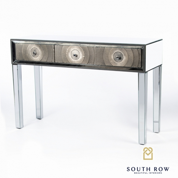 Wexler 3 Drawer Console Table Mirrored
