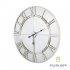 Odessa Silver Feature Wall Clock with Mirrored Glass