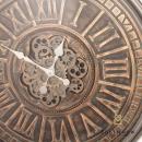 Gears Clock Rustic Bronze Round