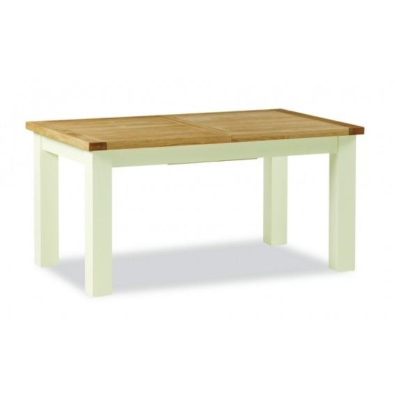 Cream Oak Extending Dining Table Small