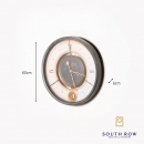 South Row Wall Clock Gold/Grey