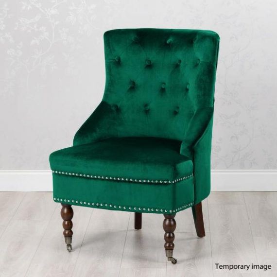 Boudoir Emerald Green Velvet Accent Chair