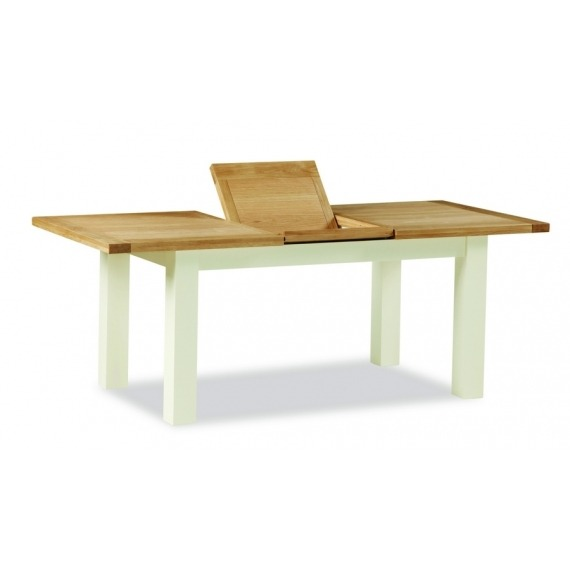 Cream Oak Extending Dining Table Small