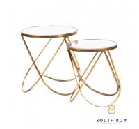 Harriet Set of 2 Loop Side Tables Gold