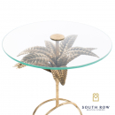 Azure Leaf Round Accent Table