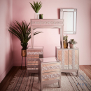 Jade 3 Drawer Mirrored Side Table